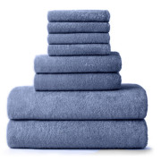 BBB_ 8 PC Bath Towels_Blue