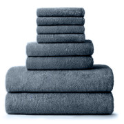 BBB_ 8 PC Bath Towels_Grey